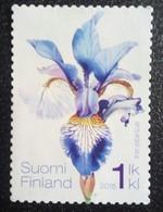 Stamp From 2016, Finland, Used, Theme: Flower (siberische Iris) - Finlandia