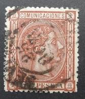 Espagne: Yvert N° 158 (Alphonse XII, 1875) - Usati
