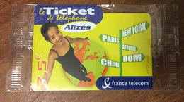 ALIZÉS TICKET TÉLÉPHONE 7,5 EURO SPÉCIMEN 30/09/2004 NSB PRÉPAYÉE PREPAID CARTE TÉLÉPHONIQUE À CODE - FT