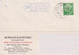 Karte BRD, Burbach Kaliwerke AG, Werk Königshall-Hindenburg, Rodetal, 1958, Bergbau - Mineralien