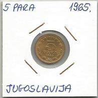 A2 Yugoslavia 5 Para 1965. KM#42 - Joegoslavië