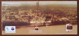 Expo 1984 New Orleans USA,Cable Car,Ferris Wheel,Rivers Fresh Water As A Source Of Life,CN10 Shanghai World Expo PSC - Otras Exposiciónes Internacionales
