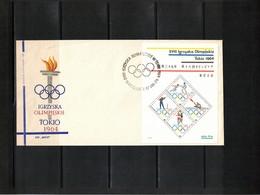 Poland / Polska 1964 Olympic Games Tokyo Michel Block 33 FDC - Sommer 1964: Tokio