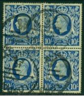 "-GB-1939-""King George VI""  Used Block - Usados"