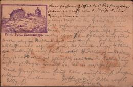 ! 1883 Seltene Frühe Privatganzsache Dt. Reich, Die Schneekoppe Im Riesengebirge, Nach Frech Ca. 40,- PP6F128 - Allemagne