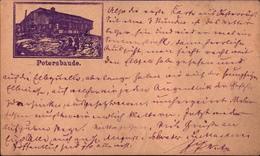 ! 1883 Seltene Frühe Privatganzsache Österreich,  Petersbaude Im Riesengebirge, Spindelmühle N. Berlin Hamburger Bahnhof - Entiers Postaux