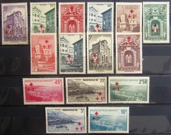 MONACO                               N° 200/214                          NEUF SANS GOMME - Unused Stamps
