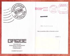 Faltblatt, Francotyp-Postalia F20-9486, Meister Druck, 160 Pfg, Kassel 1988 (91855) - BRD