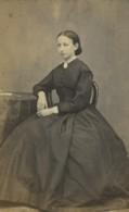 France Dunkerque Portrait Féminin Mode Laure Villette Ancienne Photo CDV William 1866 - Old (before 1900)