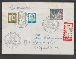 Bundesrepublik Deutschland / 1964 / Kehrdruck Mi. KZ 2 U.a. Auf Reco-Brief Ex Frankfurt (AJ06) - [7] Federal Republic