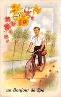 Un Bonjour De Spa (carte Sytème Complet Vélo Animée) - Spa