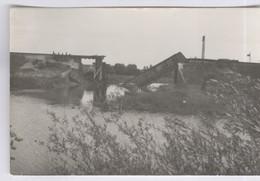 Carte Photo Libération De Louhans - Le Pont Sur La Vallière Dynamité  - Septembre 1944 - Non Circulée - Louhans