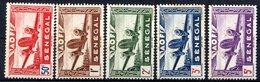 SENEGAL (Colonie Française) - 1942 - P.A. - N° 22 à 26 Et 30 - (Légende : SENEGAL) - Nuovi