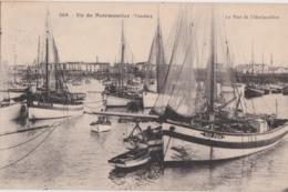 Bx - Cpa Ile De Noirmoutier - Le Port De L'Herbaudière (cachet Hexagonal La Guerinière) - Noirmoutier