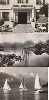 Lac D'Annecy - Lot De 3 CPSM : SEVRIER Hôtel Robinson - TALLOIRES Et DUINGT - Les Trois Mousquetaires - France