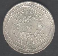 Pièce De 5 Euros Argent 2008 , Port Gratuit - France