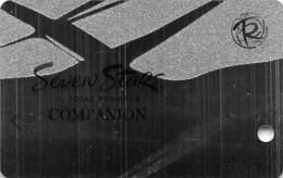 Harrah's Casino Multi-Property - TR Seven Stars Companion Slot Card @2012 / 3 Lines Bottom Rev / BLANK - Casino Cards