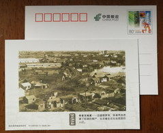 Fujiqadian Shanty Towns Nerby Railroad,China 2013 History Memory Of Harbin Advertising Pre-stamped Card - Trenes
