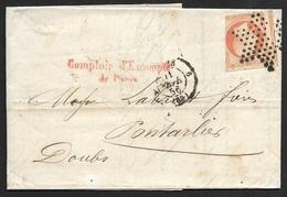 Lettre De Paris-Etoile De Paris Sur N°16 - Marcophilie (Lettres)