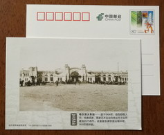 Harbin Railway Station In 1904,China 2013 History Memory Of Harbin Advertising Pre-stamped Card - Trenes