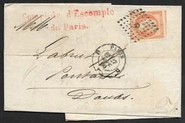 Lettre De Paris-Losange Des Bureaux De Paris Sur N°16 - Marcophilie (Lettres)