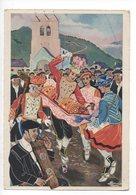En Parcourant Le Pays Basque - La Danse Du Verre - Illustrateur Charles Homualk - Non Classés