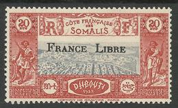 COTE FRANCAISE DES SOMALIS 1942 YT 232** - SANS CHARNIERE NI TRACE - Unused Stamps