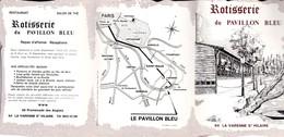 LA VARENNE SAINT HILAIRE ROTISSERIE DU PAVILLON BLEU ADEPLIANT PUBLICITAIRE - France