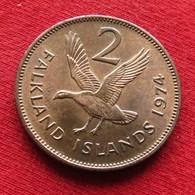 Falkland  Islands 2 Pence 1974 KM# 3 *V2 Malvinas Malwinen - Falkland Islands