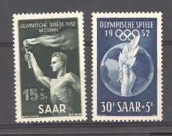 Sarre  :  Yv  301-02  *     JO Helsinki - Unused Stamps