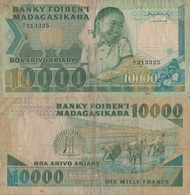 Madagascar / 10000 Ariary / 1983 / P-70(a) / FI - Madagascar