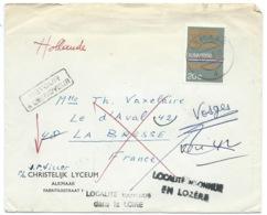 ENVELOPPE HOLLANDE PAYS BAS POUR LA BRESSE VOSGES / RETOUR A L'ENVOYEUR 1968 - Poststempel