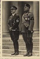 Drittes Reich   -  Der Führer Und Der Duce - Photo-Karte - Guerre 1939-45