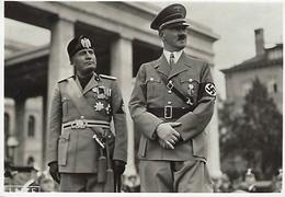 Drittes Reich   -  Mussoline Und Hitler - Photo-Karte - Guerre 1939-45