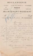 POISSY MAINTENANT MORDANT BOULANGERIE PAINS DE FANTAISIE PATISSERIE CROISSANTS ANNEE 1891 - France