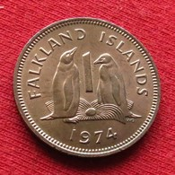 Falkland  Islands 1 One Penny 1974 KM# 2  Malvinas Malwinen - Falkland