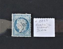 03 - 20 //  France N° 60 Oblitéré GC 2243 - Martaize - Vienne - Indice 16 - 1871-1875 Ceres
