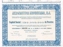 Titre Ancien - Aeronautica Industrial - Sociedad Anonima - Titulo De 1965 - Aviation