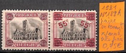 [830975]TB//*/Mh-Belgique 1921 - N° 188A, Paire Se Tenant, Très Frais - Unused Stamps