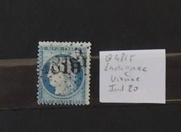 03 - 20 //  France N° 60 Oblitéré GC 4815 - Ladignac - Vienne - Indice 20 - Rare - 1871-1875 Ceres