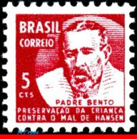 Ref. BR-RA15 BRAZIL 1969 HEALTH, HANSEN DISEASE, LEPROSY,, FATHER BENTO DIAS PACHECO, MI# Z16, MNH 1V Sc# RA15 - Brasilien