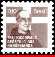 Ref. BR-RA18 BRAZIL 1975 HEALTH, HANSEN DISEASE, LEPROSY,, HANSENIASIS,FATHER NICODEMOS,MI# Z19,MNH 1V Sc# RA18 - Ungebraucht
