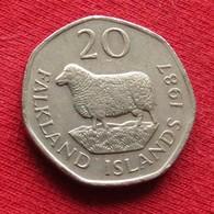 Falkland  Islands 20 Pence 1987 KM# 17 *V2 Malvinas Malwinen - Falkland Islands