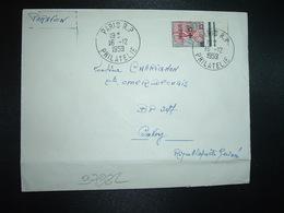 LETTRE Pour La GUINEE TP MARIANNE A LA NEF 25F Surch. FREJUS +5F OBL.16-12 1959 PARIS RP PHILATELIE - 1959-60 Marianne (am Bug)