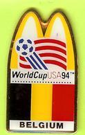 Pin's Mac Do McDonald's WorldCup USA94 Coupe Du Monde Foot Belgium / Belgique - 10G02 - McDonald's
