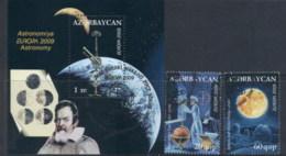 Azerbaijan 2009 Europa Space & Astronomy + MS FU - Azerbaiyán