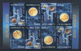 Azerbaijan 2009 Europa Space & Astronomy Sheetlet FU - Azerbaiyán