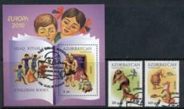 Azerbaijan 2010 Europa Children's Books + MS FU - Azerbaiyán