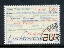 Liechtenstein 2008 Europa The Letter FU - Used Stamps