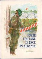 """FOLDER CON SCHEDA TELEFONICA ATW """"FORZE ITALIANE DI PACE IN ALBANIA"""" NUOVA NON UTILIZZATA SCADENZA 31/04/1998 - Leger"""